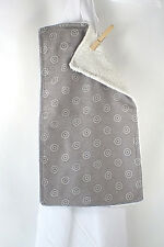 Terry Backed Burp Cloth -  Gray Collection - Great Baby Shower Gift Idea