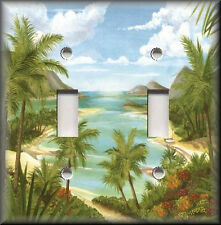 Switch Plates And Outlets - Tropical Palm Trees - Beach House Home Decor
