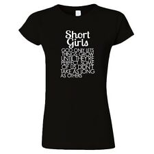 SHORT GIRLS HILARIOUS SAYING FUNNY QUOTE WOMENS FITTED T-SHIRT