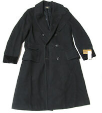 Double Ralph Lauren RRL Mens Black Heavy Wool Officers Trench Pea Coat Jacket