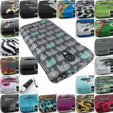 FOR LG LUCID III 3 VS876 GRAPHIC DESIGN SNAP-ON PHONE CASE COVERS+STYLUS/PEN