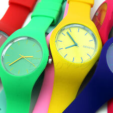Womens Trendy Super Soft Jelly Silicone Sports Watch Students Wrist Watch