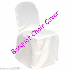 White Wedding Banquet or Folding Chair Covers Polyester Brand New