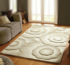 Textures Handmade Thick Luxurious Soft Wool 3D Effect Rugs 3 sizes 3 colours
