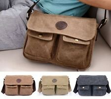 Cool Fashion Vintage Men' Lady's Canvas Shoulder Messenger Handbag Crossbody Bag