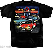 Corvette C1 1st Generation Vintage Diner Black T-Shirt**** NEW****