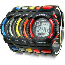 Mens Boys Sport Style Digital LED Alarm Date Function Quartz Wrist Watches