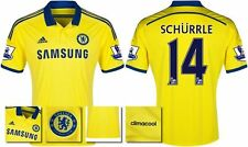*14 / 15 - ADIDAS ; CHELSEA AWAY SHIRT SS + PATCHES / SCHURRLE 14 = KIDS SIZE*