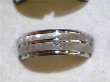 Simulated Solid Diamond Wedding Engagement Ring Mems Womens Size 8, 9