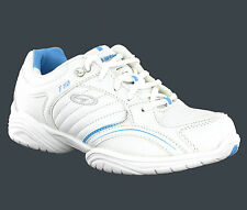 Women Hi-Tec F110 White Lightweight Gym Sports Running Shoes Trainers Size 6-10