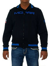 Mopar Slim Fit Track Jacket Black Royal Blue Trim Cotton Adult