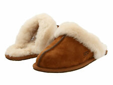 Ugg Australia Scuffette Chestnut Beige 5661 Womens Sheepskin Suede Slipper Shoes