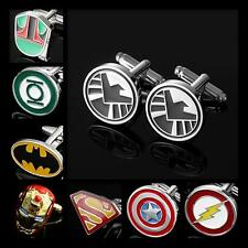 Buy 2 Get 1 Free Engravable Superhero Justice League Marvel DC Comics Cufflinks