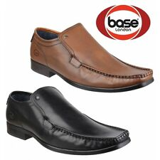 Base London CARNOUSTIE Mens Waxy Leather Slip On Casual Moccasin Loafers Shoes