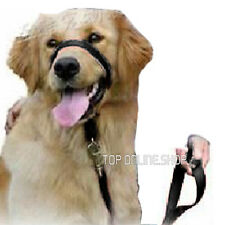 Head Collar Dog Black Nylon Training Loop Alternative to Gentle Leader
