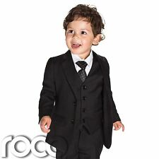 Baby boys black slim fit suits, boys black suit, boys Page boy Outfit