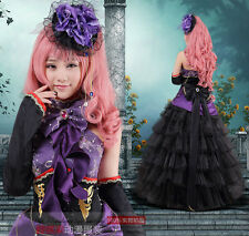 Halloween layers Cosplay Costume Lolita Bow Outfit party formal gown Prom dress