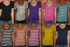 NEW!POLO RALPH LAUREN WOMEN'S V-NECK ''PERFECT TEE '' T-SHIRTS SIZES XS,S,M,L,XL