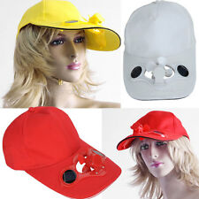 Summer Solar Power Cap Hat with Cooling Fan for Sports Baseball Golf Cycling 1PC