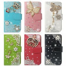 The Newest ! 3D Bling Flip Wallet Leather Color Phone Case For Nokia Sony HTC LG