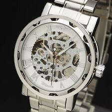 2014 Steel Stainless Strap Skeleton Fashion Mechanical Hand Wind Watch Be Winner