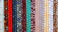 50 Preciosa Czech Glass 8mm Fire Polished Faceted Round Beads You Pick Color