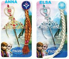 Frozen Snow Queen Elsa&Anna Princess Crown&Hair Piece&Wand Set Girls Kids Gift