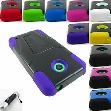 FOR NOKIA LUMIA 635/630 RUGGED T-STAND HYBRID ARMOR CASE COVER+STYLUS/PEN