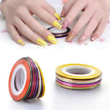 10/ 20/ 30pcs DIY Multi-colors Nail Rolls Striping Tape Line Decoration Sticker