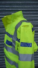INSTRUCTOR  Hi Viz Vis  gore-tex waterproof blouson bomber jacket ex Police ref5