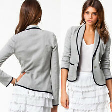 New Womens Ladies Stylish Casual Suit Coat Jacket Blazer Size 6 8 10 12 14 16 18
