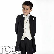 Baby Boys Black Suit, Baby Boys Tail Suits, Wedding Suits, Page Boy Suits
