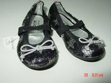 NWT Falls Creek Shoes Toddler Young Girl Mary Janes Lil Star Black Silver Sequin