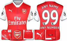 *2016 / 2017 - PUMA ; ARSENAL HOME SHIRT SS + PATCHES / PERSONALISED = SIZE*