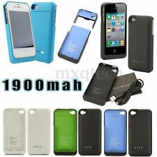 New 1900mAh External Backup Battery Power Bank Charger Case For iPhone 4 4S 4G