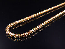 """Solid Stainless Steel Puffed Franco Chain Necklace 2mm In Rose Gold Finish 24"""""""