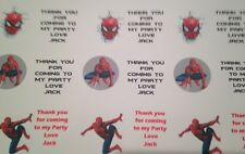 Spiderman 21 persoanlised birthday stickers sweet cones / boxes / favour box