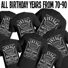 Birthday Vintage Mens T-Shirt choose your year in Listing From 70 - 90