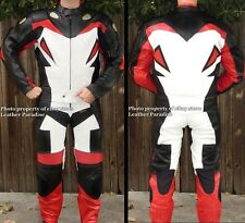 2pc Viper Downhill Skating Skateboarding Street Luge Leather Suit Red GP Armor