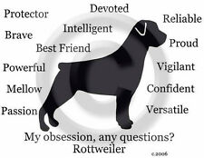 Rottweiler Dog - My Obsession, Any Questions? T-shirt ..