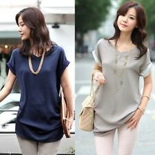 New Fashion Women's V-neck Short Sleeve Sexy T- Shirt Casual Tops Blouse