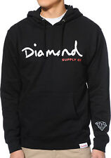 Diamond Supply Co. Men's OG Script Hoodie Black  Skate sweatshirt