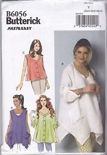 Butterick Fast & Easy Sewing Pattern Misses' Top Mock Bands Sxm - Xxl B6056