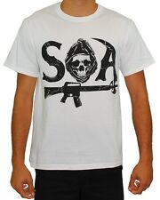 Sons of Anarchy Men's Stacked Samcro T Shirt White  TV Show Motorcycle Street