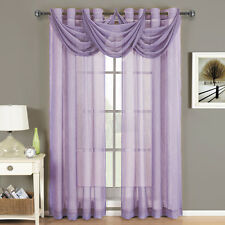 Royal Textiles Abri Lavender Grommet Crushed Sheer Curtain Panel