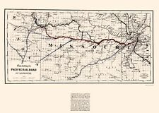 Historic Railroad - PACIFIC RAILROAD OF MISSOURI - COLTON 1865