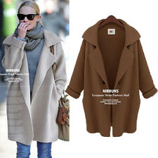 2014 New Fashion Womens Wool Cardigan Wweater Loose Long Trench Coat Jacket
