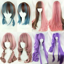 Fashion Lolita Long Straight/Curly Wavy Full Wig Hair Cosplay Party Ombre Wig