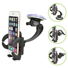 Car Windshield/Dashboard/Air Vent/Visor Mount Holder For iPhone Smart Phone NEW
