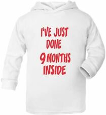 Just Done 9 Months Inside Cute Present New Born Gift  Supersoft Baby Hoodie